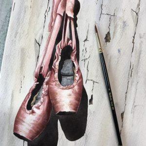 ballet shoes 8x10