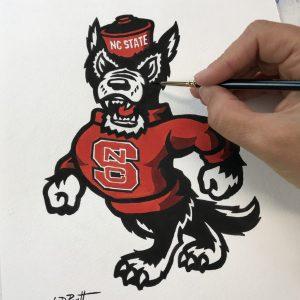 north carolina mascot wolfpack 8x10b